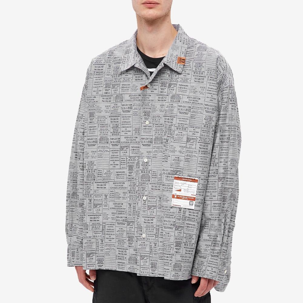 Maison MIHARA YASUHIRO Care Label Jacquard Shirt - White