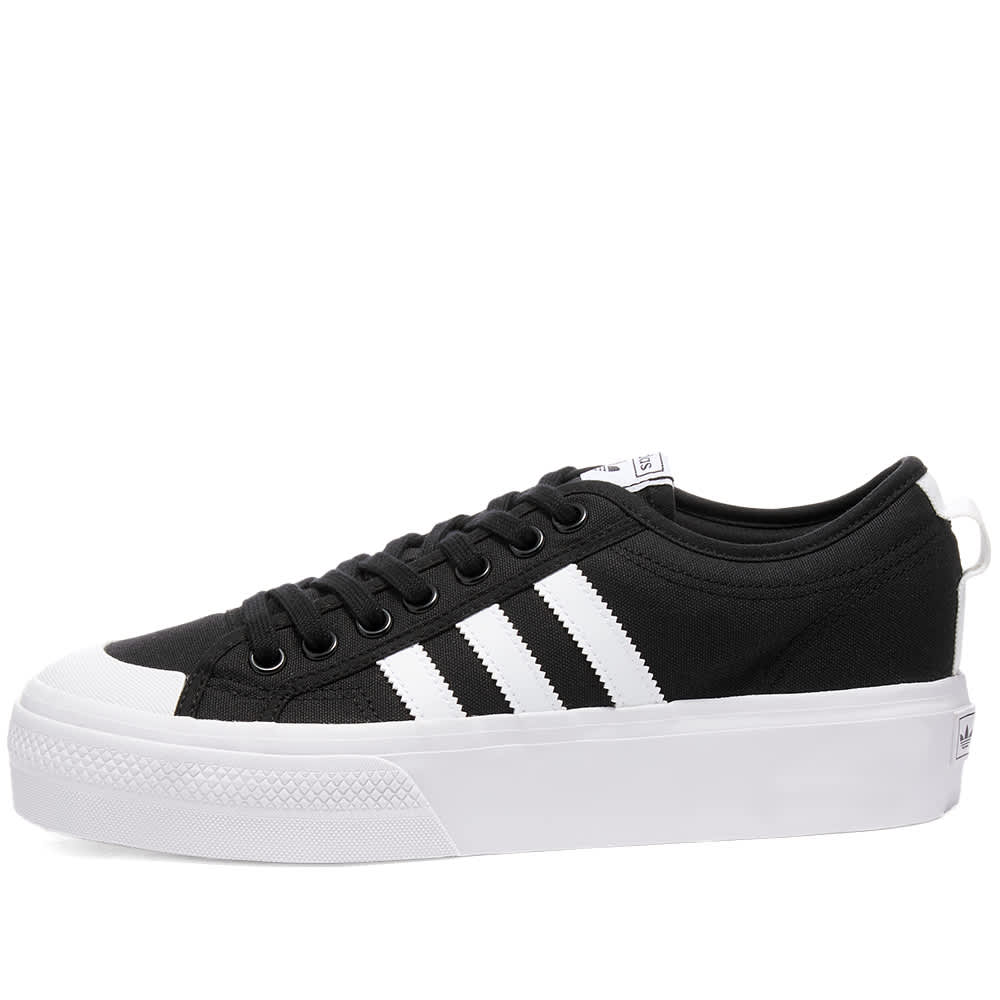 Adidas Nizza Platform W - Core Black & White