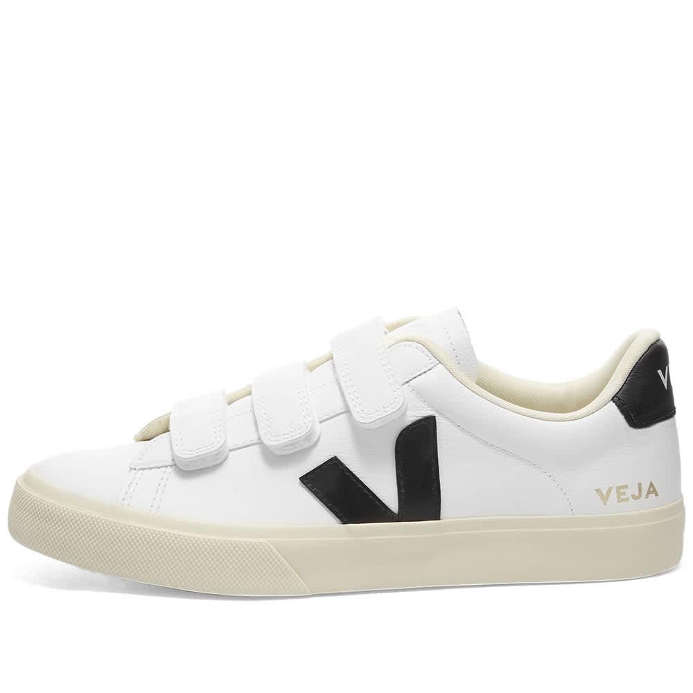 Veja Womens Recife Logo Sneaker - White & Black