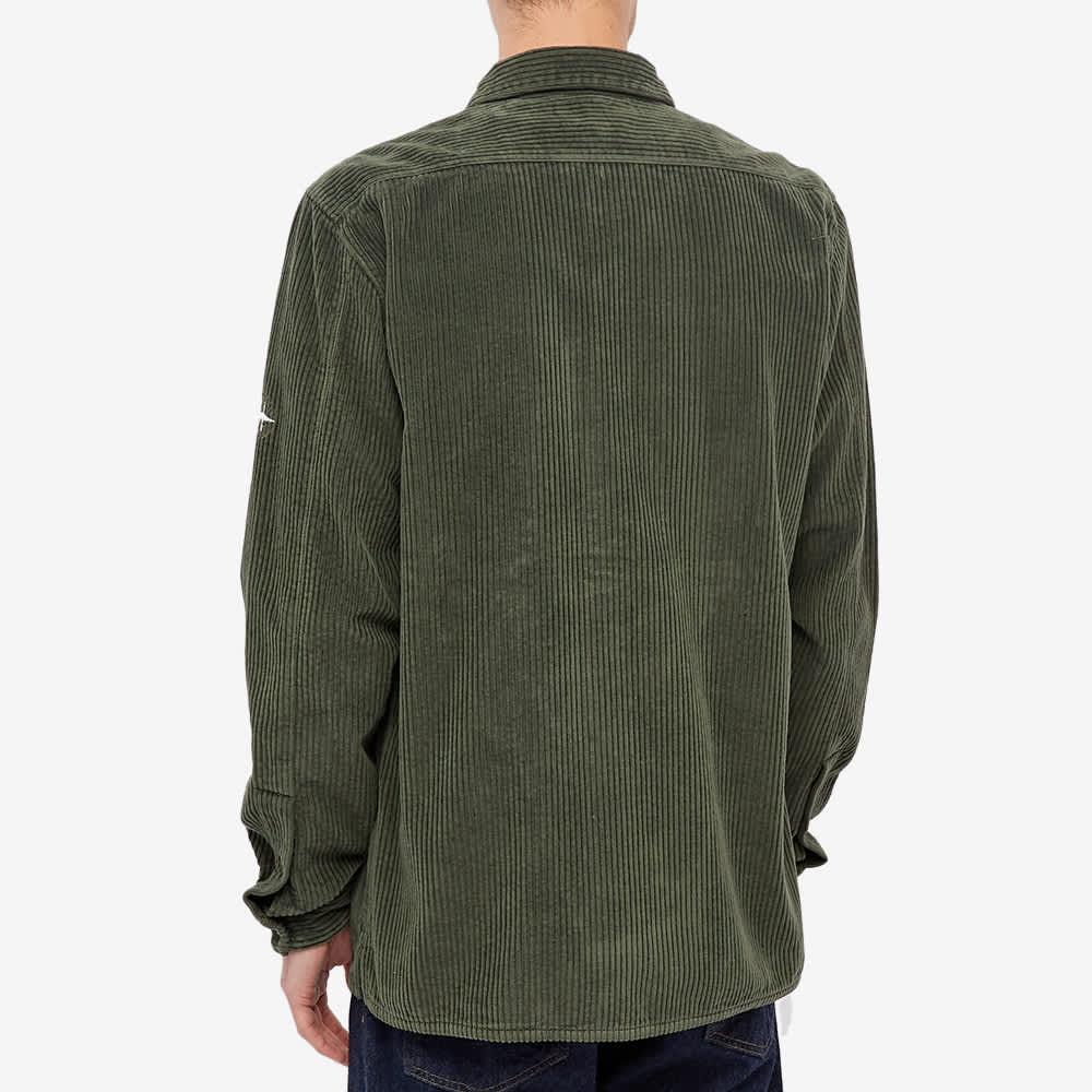 Stone Island Compass Sleeve Cord Shirt - Sage
