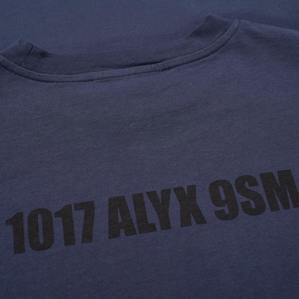 1017 ALYX 9SM Mirrored Logo Tee - Navy