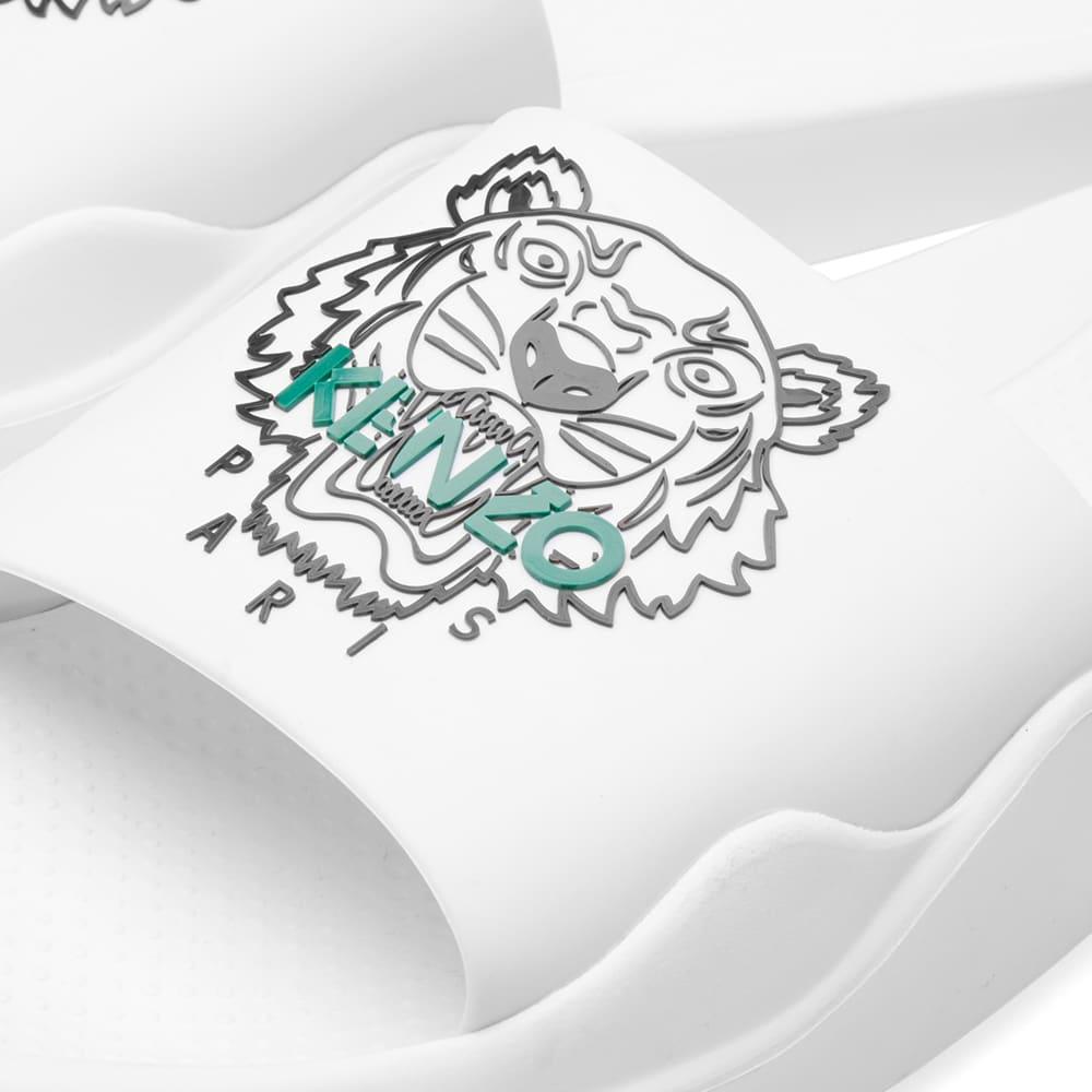 Kenzo Tiger Logo Slide - White