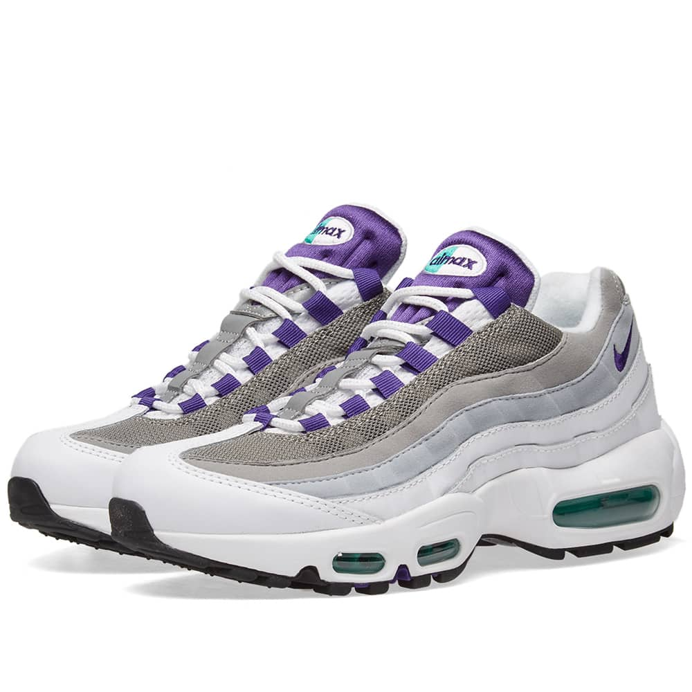Nike Air Max 95 W White, Court Purple