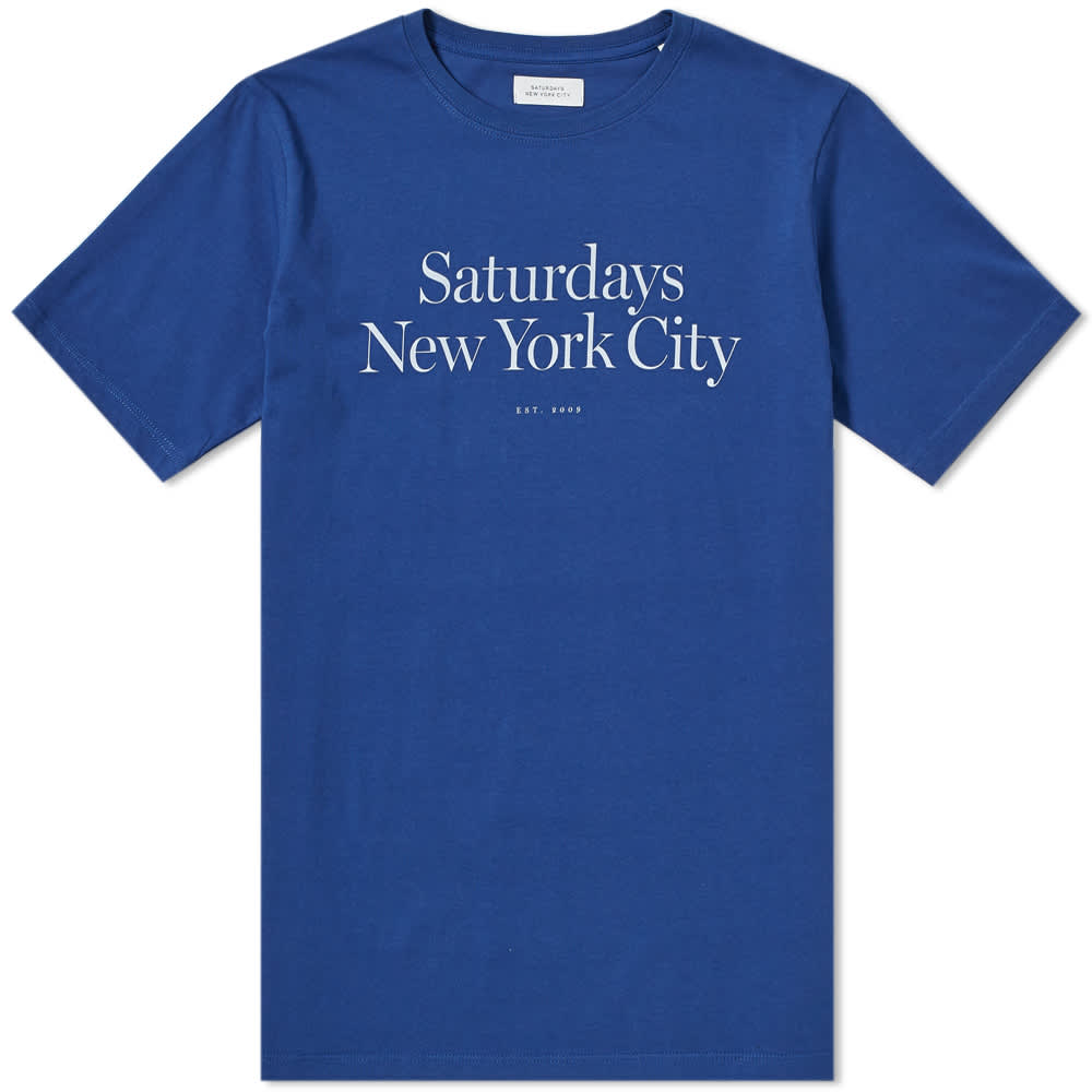 Saturdays NYC Miller Standard Tee - Cobalt