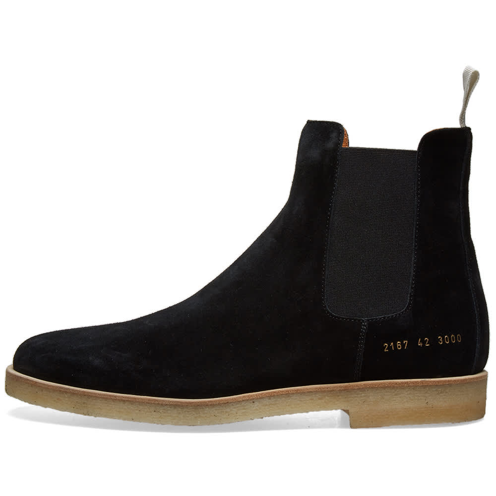 Common Projects Suede Chelsea Boot - Black