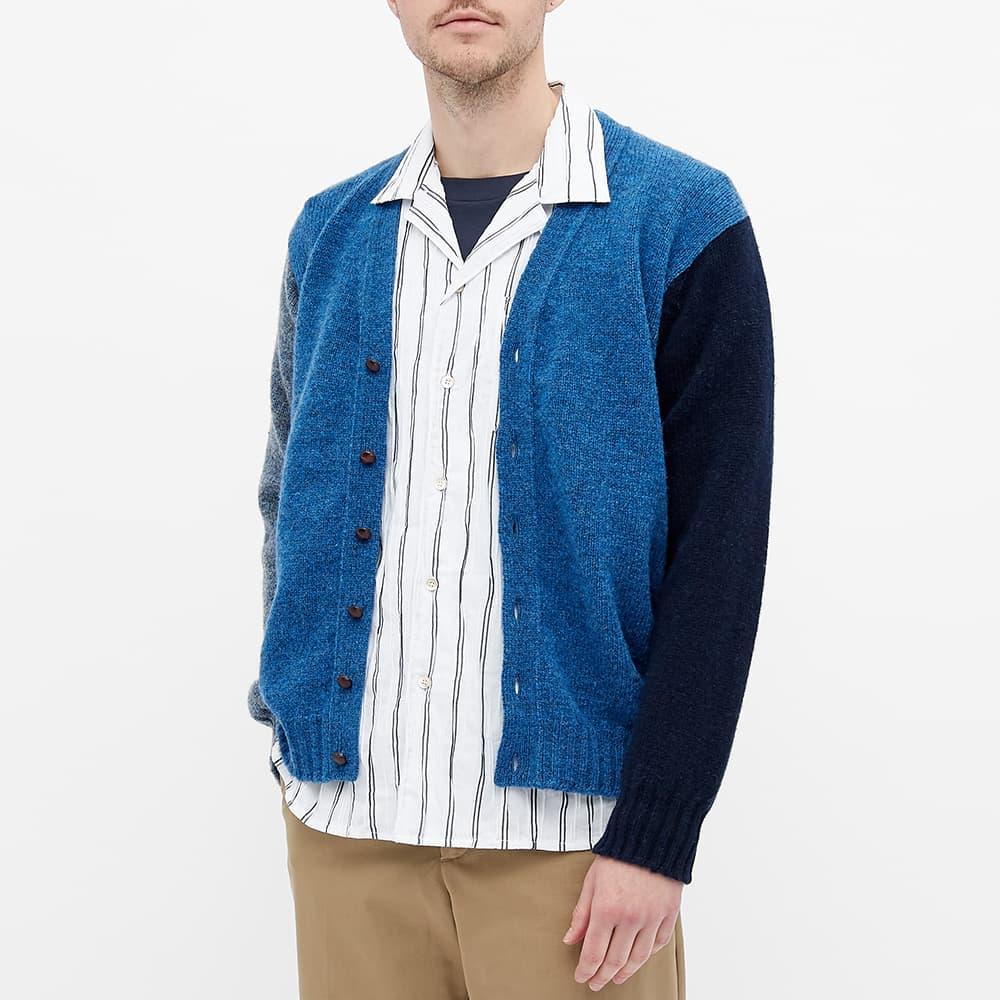 Jamieson's of Shetland Colour Block Cardigan - Blue Multi