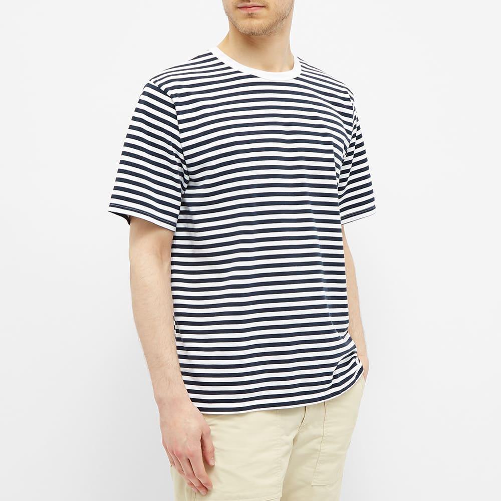 Nanamica CoolMax Jersey Tee - Navy & White