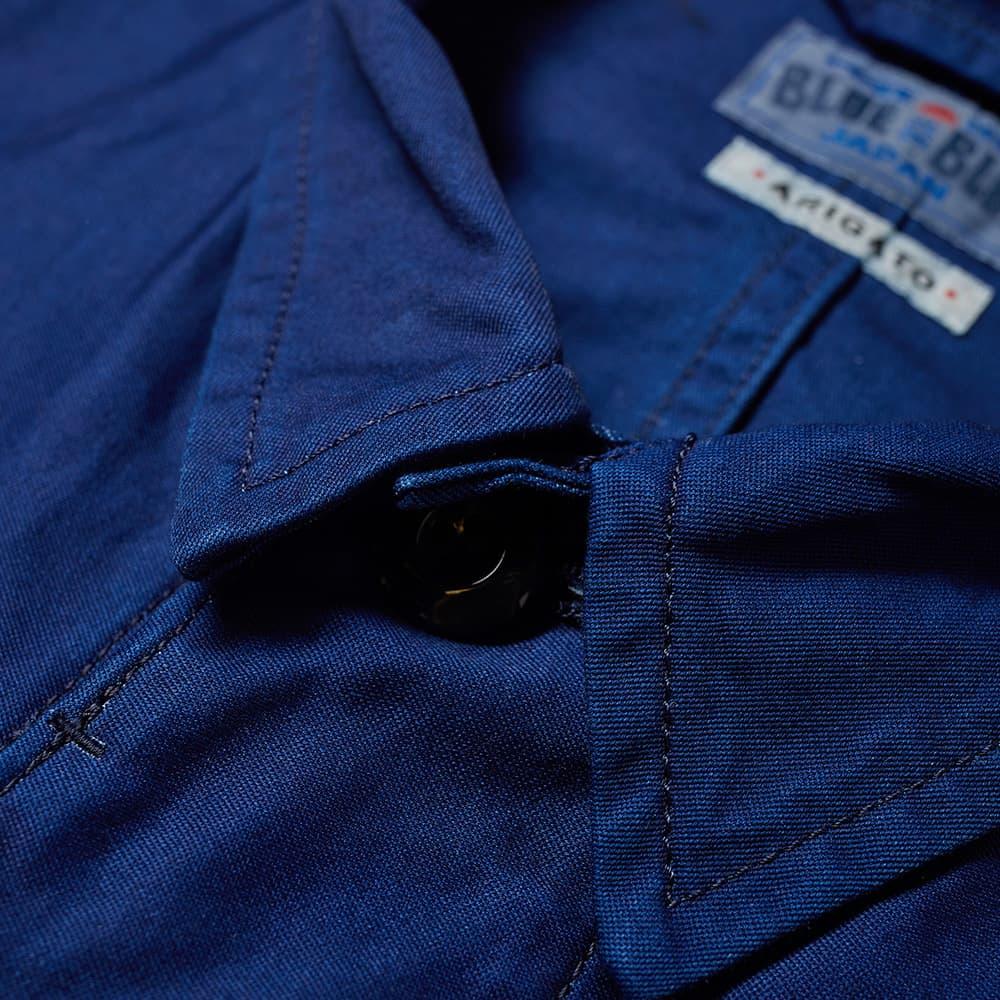 Blue Blue Japan Dyed Cotton Tropical Coat - Indigo