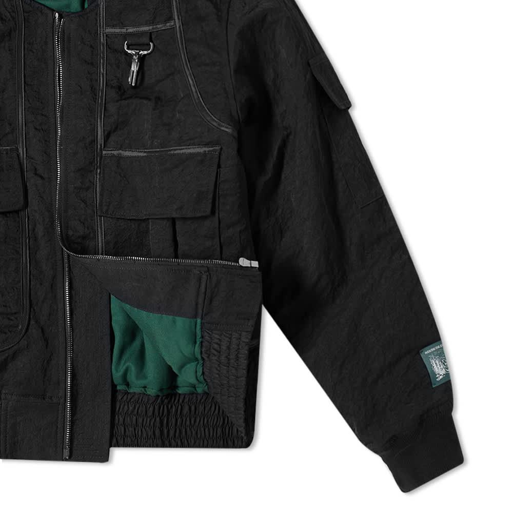 Reese Cooper Nylon Bomber Jacket - Black