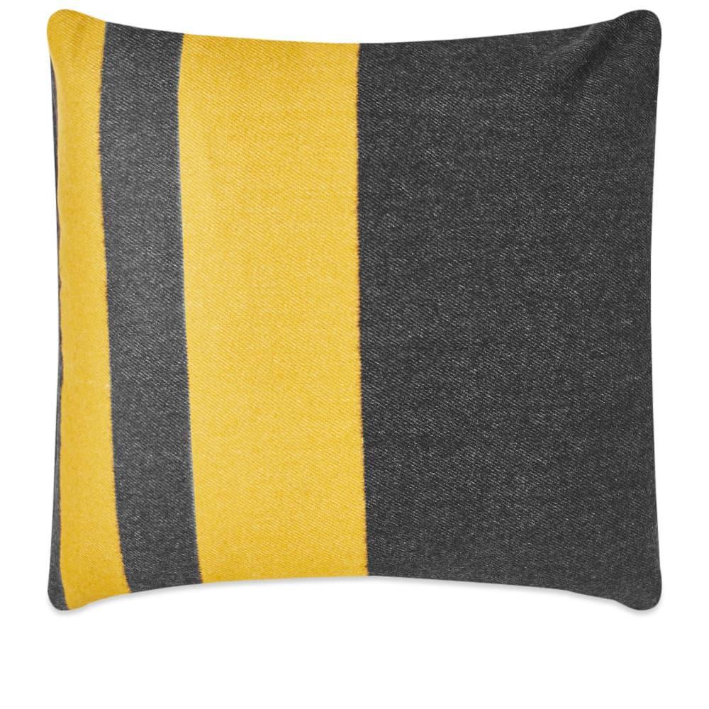 Viso Project Merino Cushion - Black & Mustard