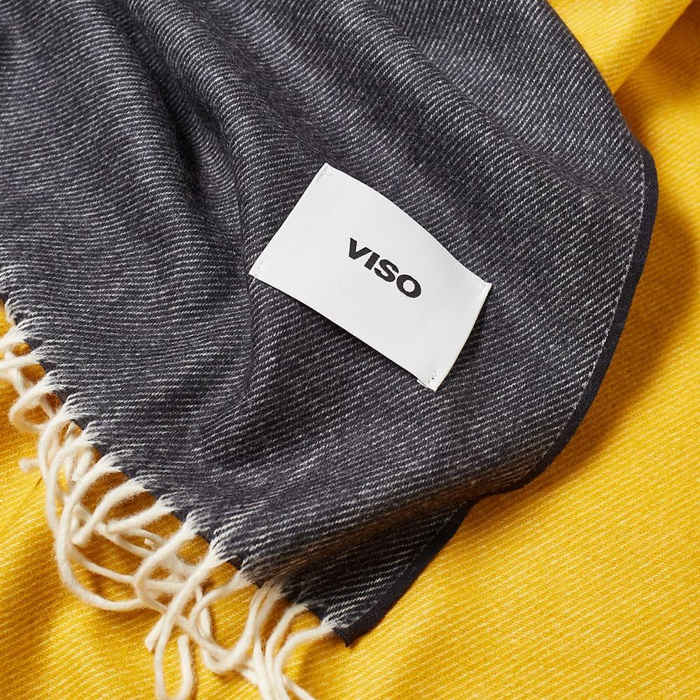 Viso Project Merino Blanket - Black, Yellow & Brown