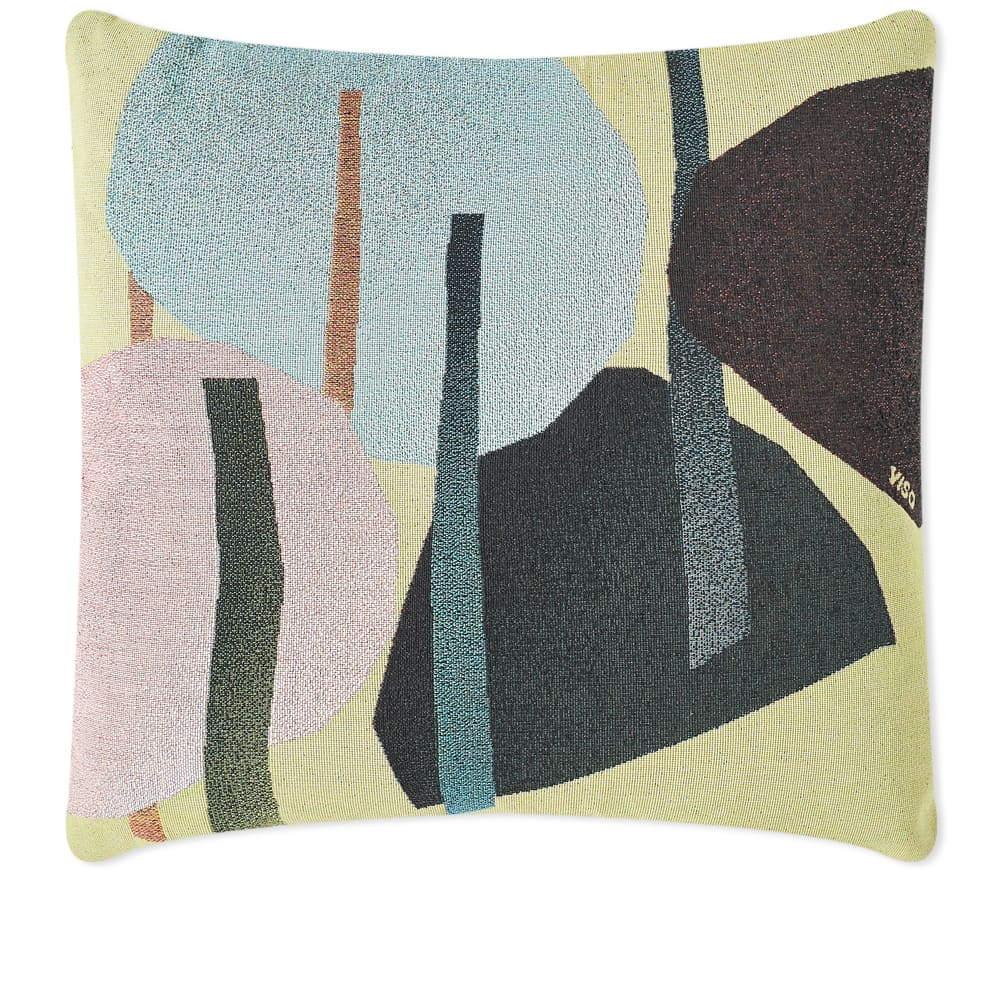 Viso Project Tapestry Cushion - Green & Pink