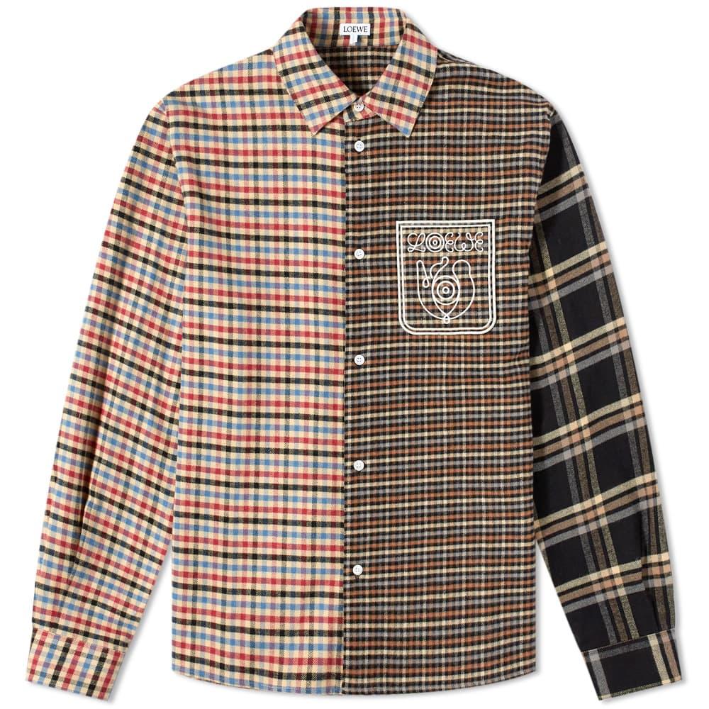 Loewe ELN Patchwork Flannel Shirt - Multi