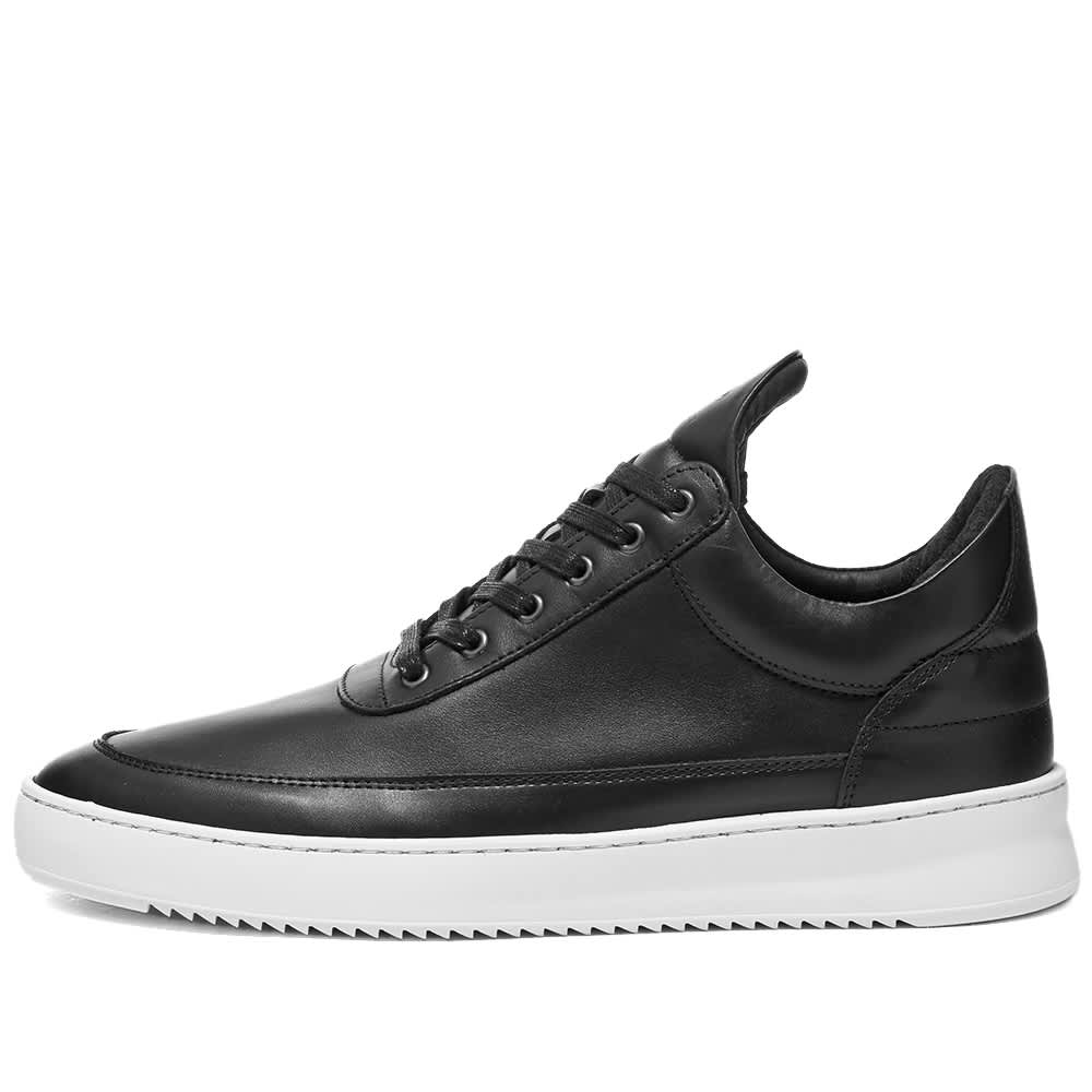 Filling Pieces Low Top Ripple Nappa Sneaker - Black & White