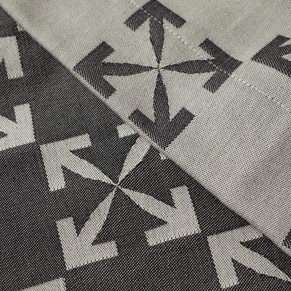 Off-White Arrow Pattern Table Cloth - White & Black