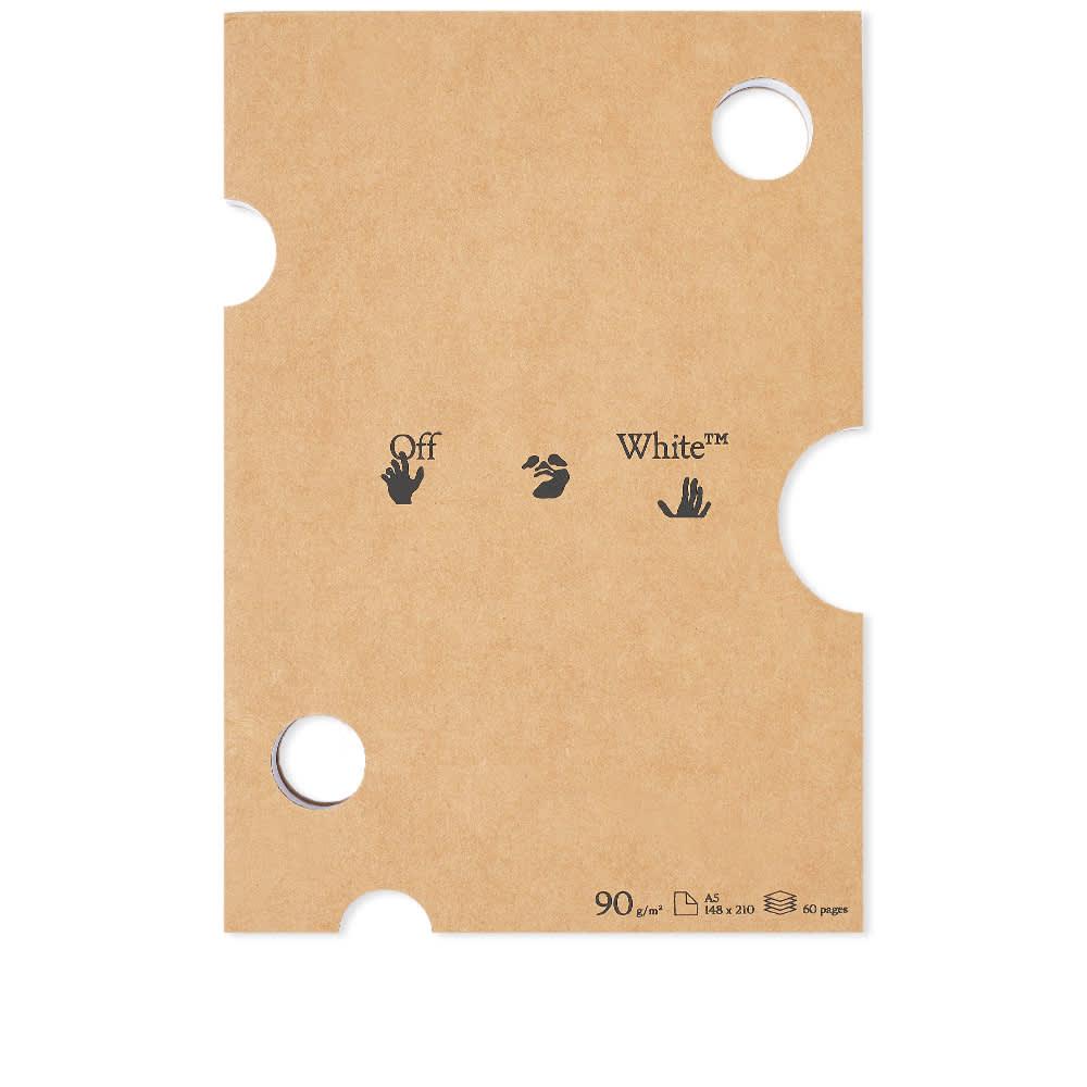 Off-White Kraft Notepad - Brown, White & Black
