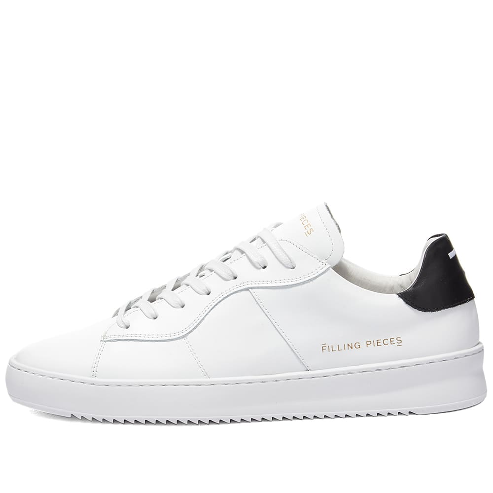 Filling Pieces Court Bianco Sneaker - White & Black