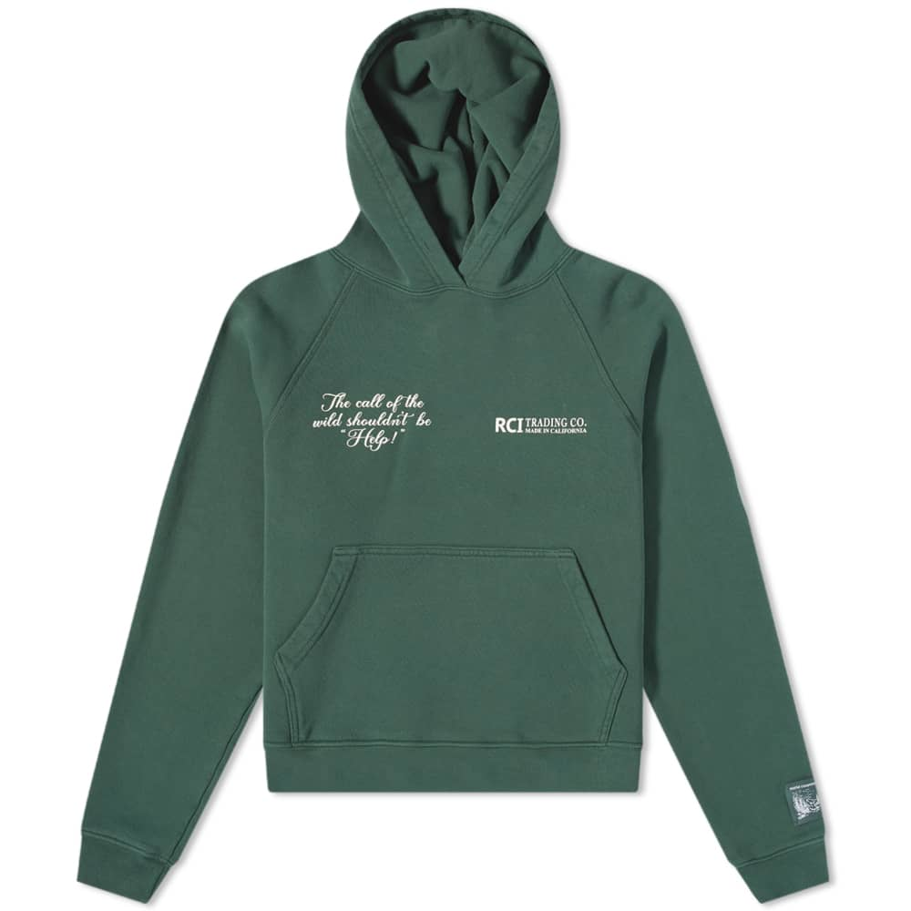 Reese Cooper Call Of The Wild Popover Hoody - Forest Green