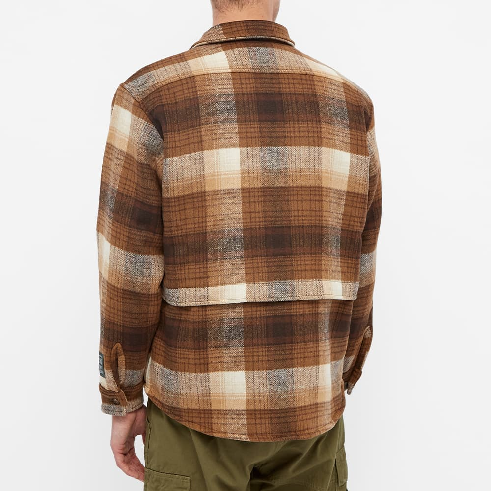 Reese Cooper Brushed Wool Flannel Button Down Shirt - Brown