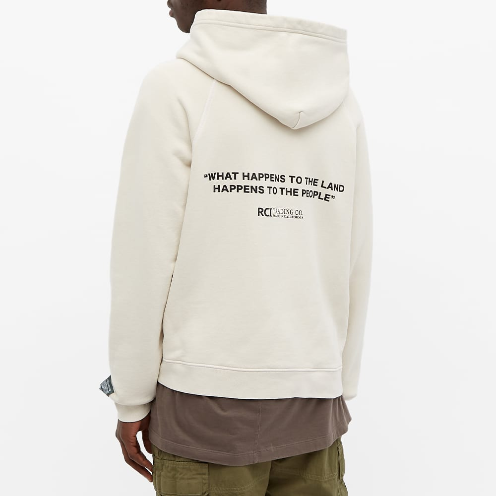 Reese Cooper Forest Collegiate Popover Hoody - Vintage White