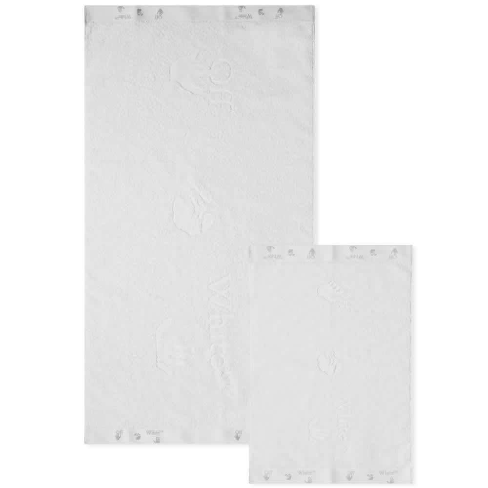 Off-White Towel Set - White