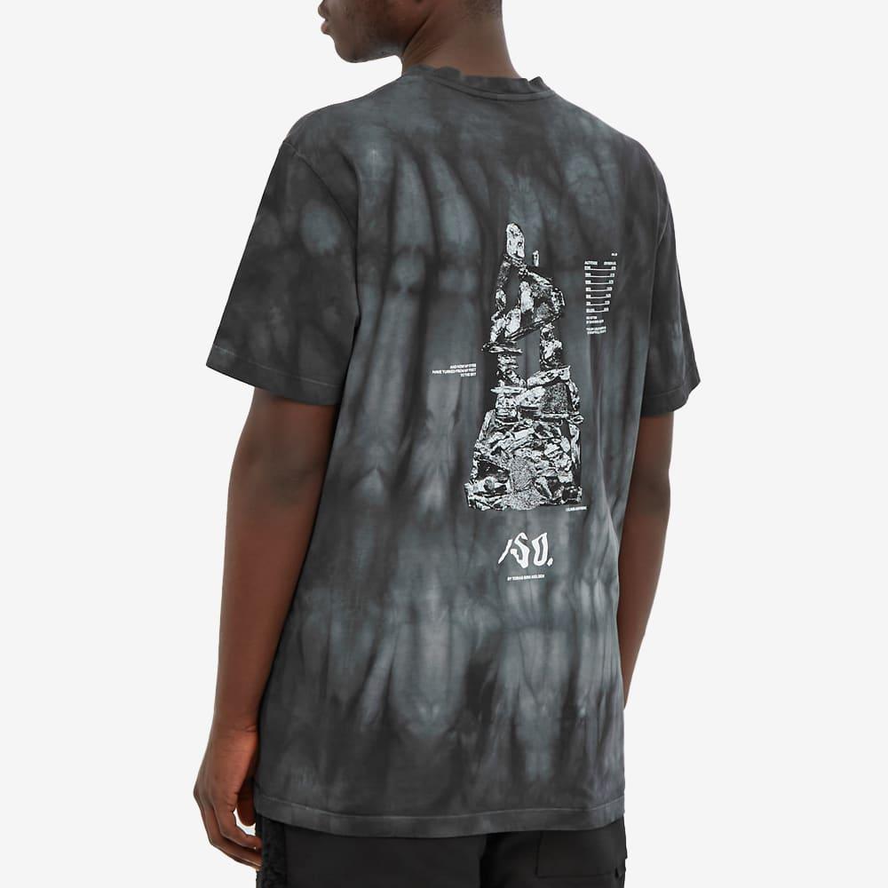 Tobias Birk Nielsen Printed Crew Neck Tie Dye Tee - Black & Anthracite