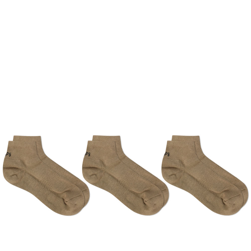 WTAPS Skivvies Short Sock - 3-Pack - Olive Drab
