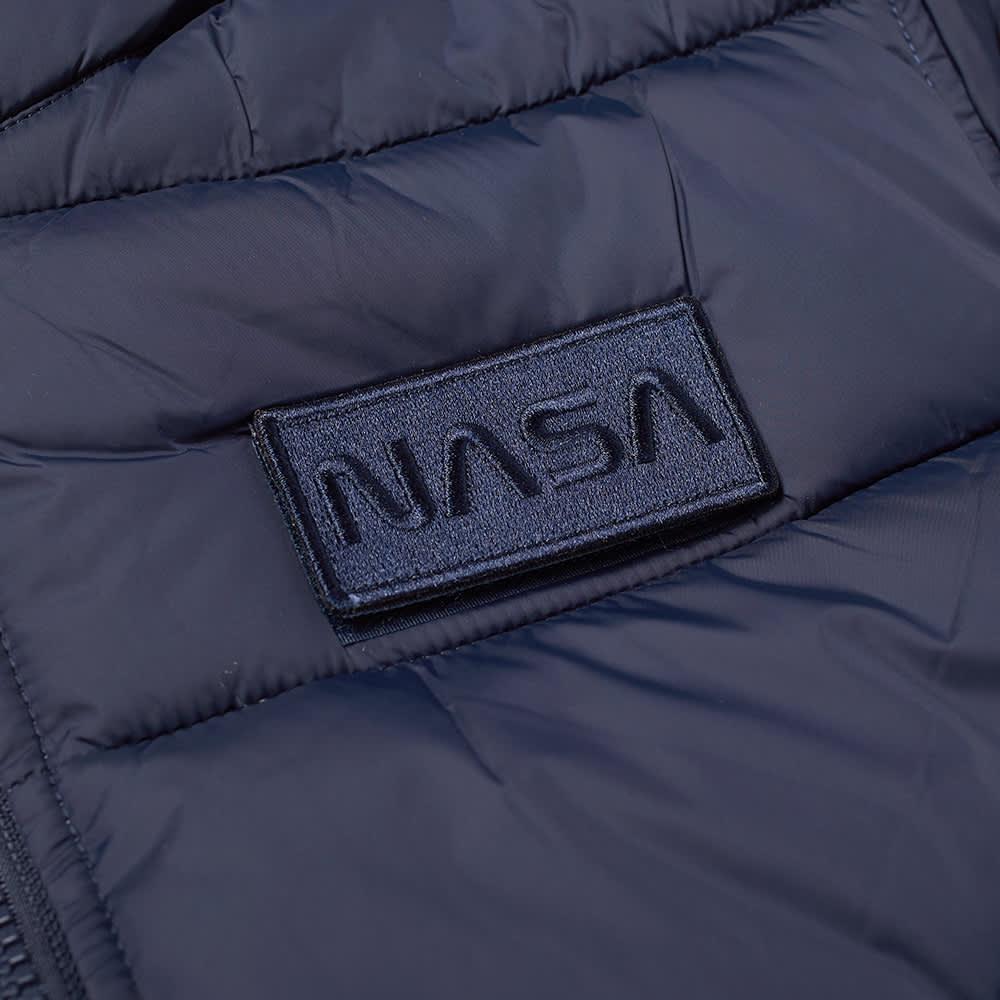 Alpha Industries NASA Hooded Puffer Jacket - Replica Blue