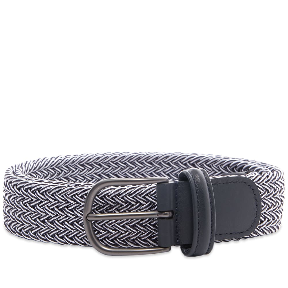 Anderson's Woven Textile Belt - Navy & White