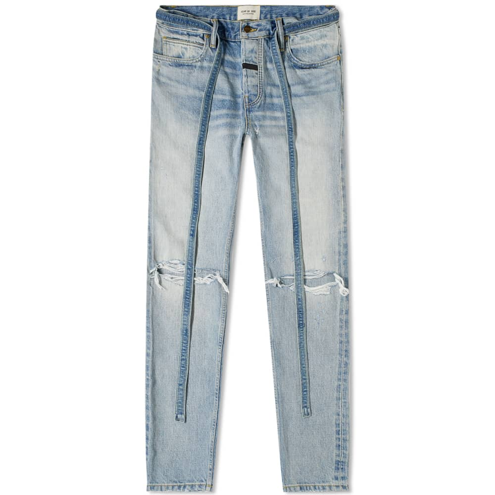 Fear of God Slim Distressed Jean