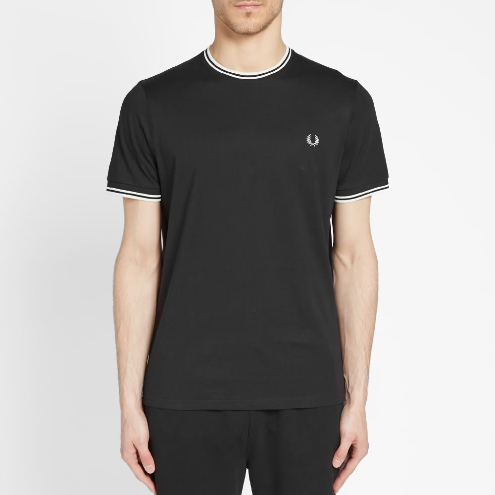 Fred Perry Twin Tipped Tee - Black