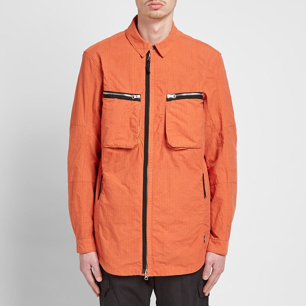 Stone Island Shadow Project Naslan Ripstop Zip Shirt Jacket - Rust