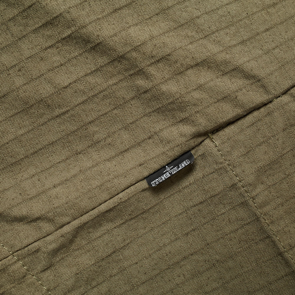 Stone Island Shadow Project Naslan Ripstop Zip Shirt Jacket - Military Green