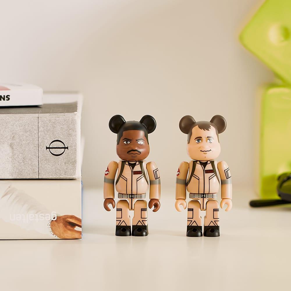 Medicom Ghostbusters Peter Venkman & Winston Zeddemore Be@brick Set - Beige & 100%