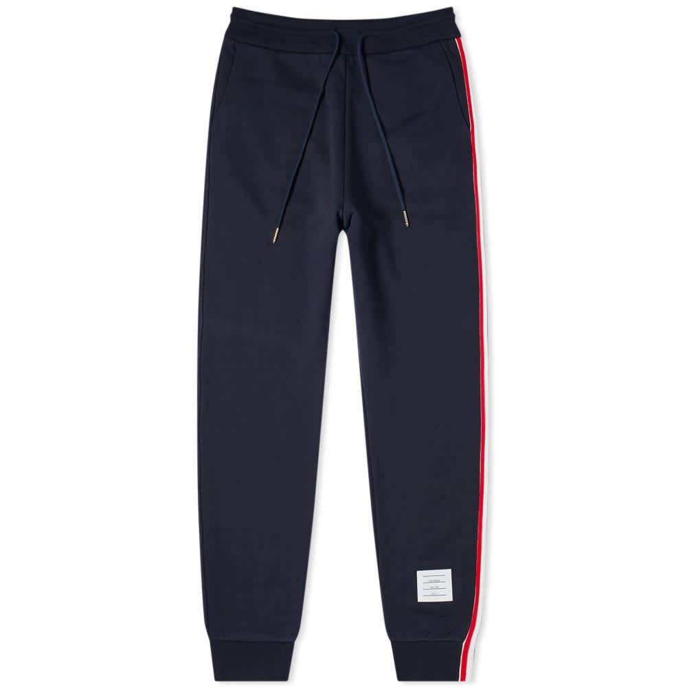 Thom Browne Tricolour Stripe Sweat Pant - Navy