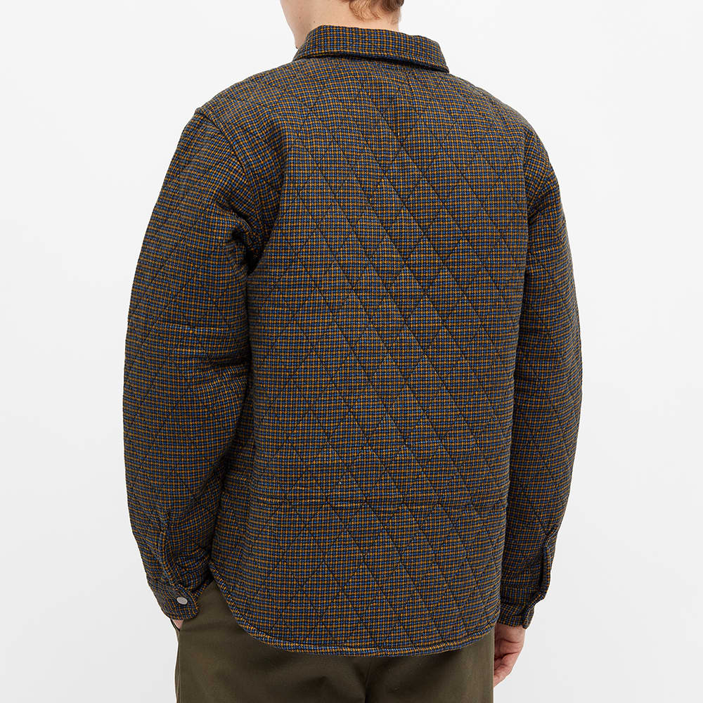 Stussy Mini Check Quilted Zip Shirt - Black