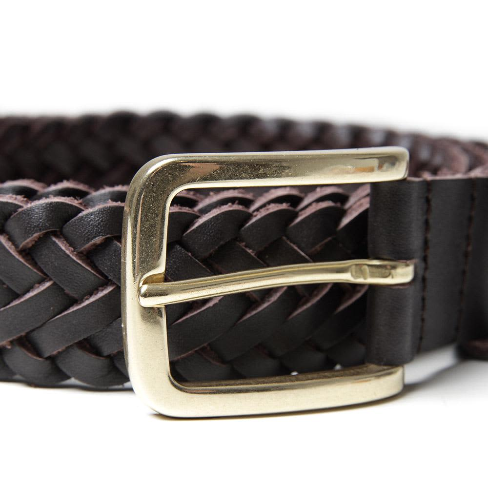 A.P.C. Woven Leather Belt - Brown