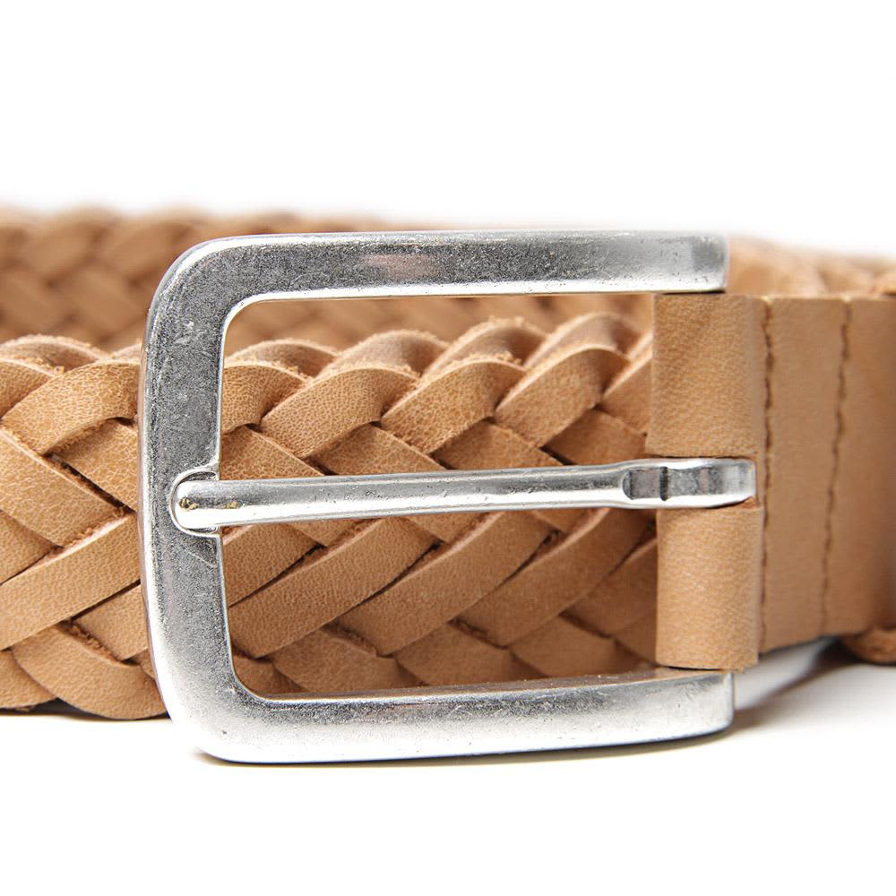 A.P.C. Woven Leather Belt - Natural