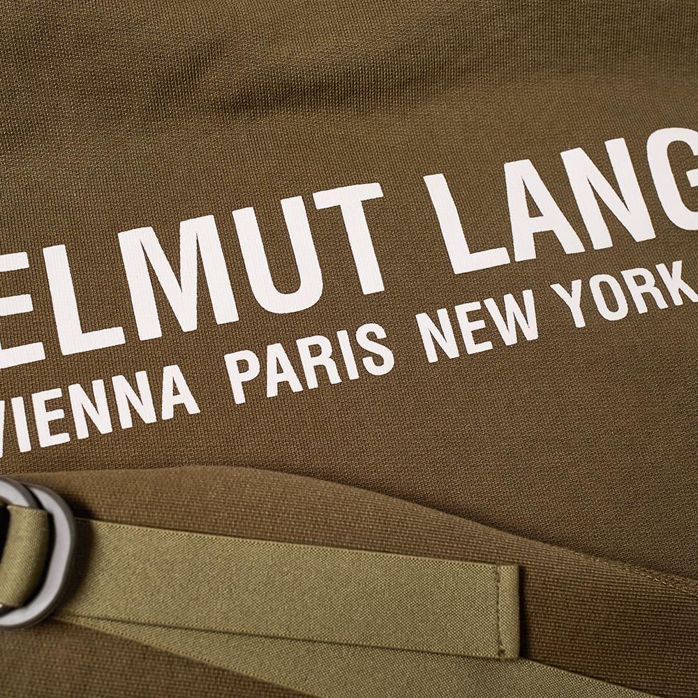 Helmut Lang Logo Text Strap Popover Hoody - Green