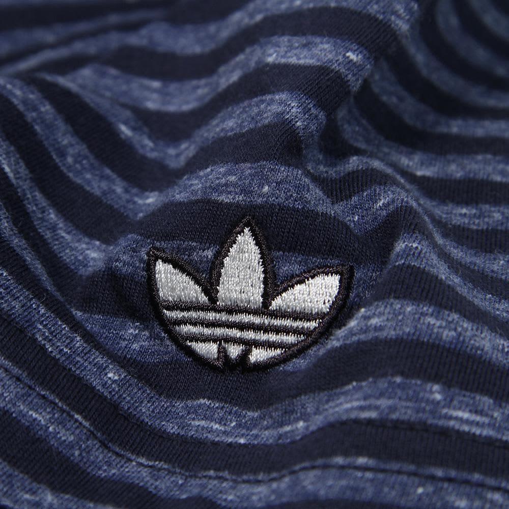 Adidas Premium Basics Stripe Tee - Legend Ink