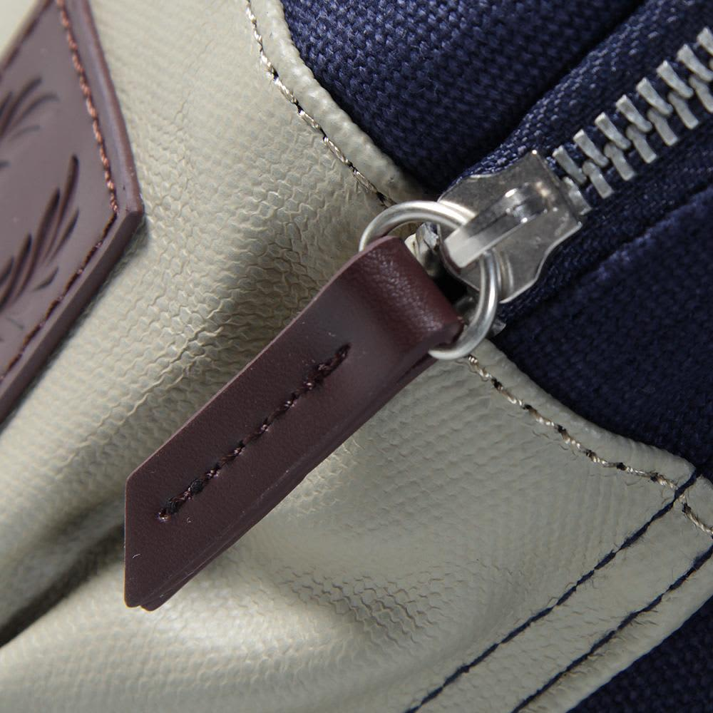 Fred Perry Washed Cotton Rucksack - Carbon Blue