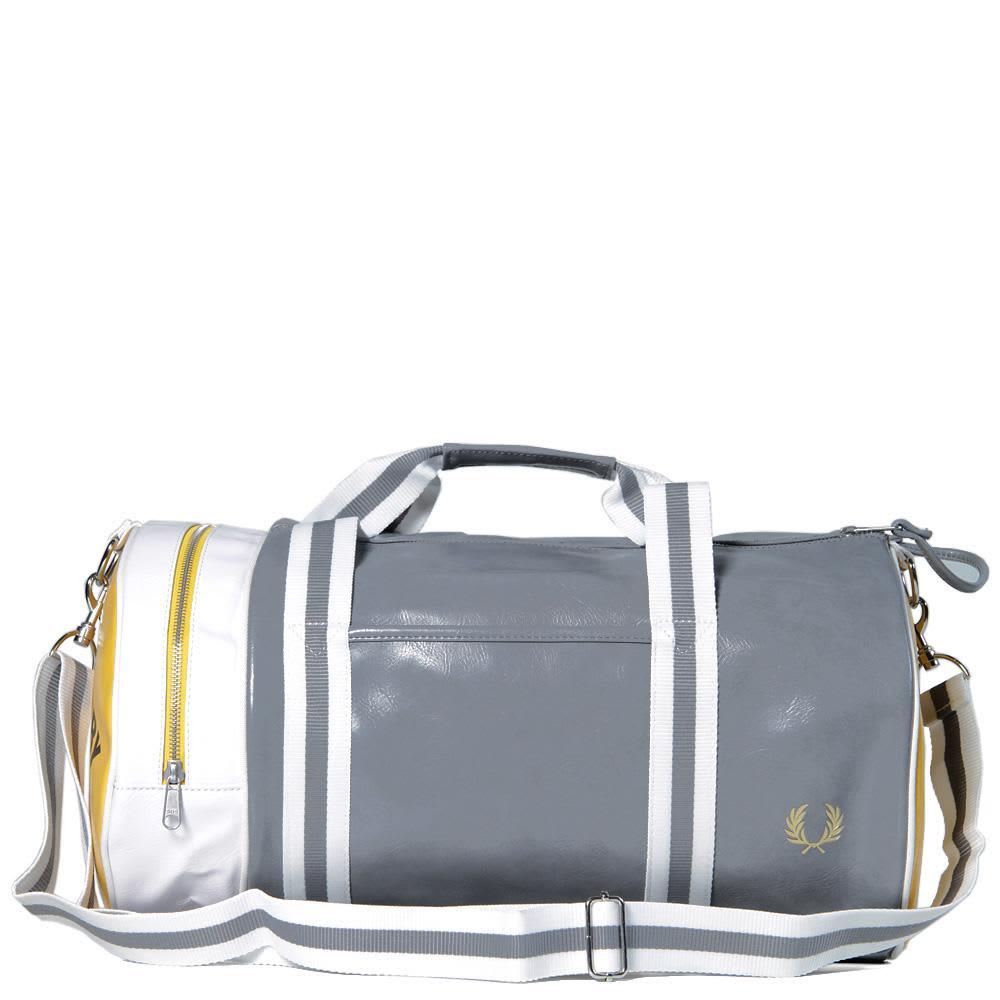 Fred Perry Classic Barrel Bag - Grey