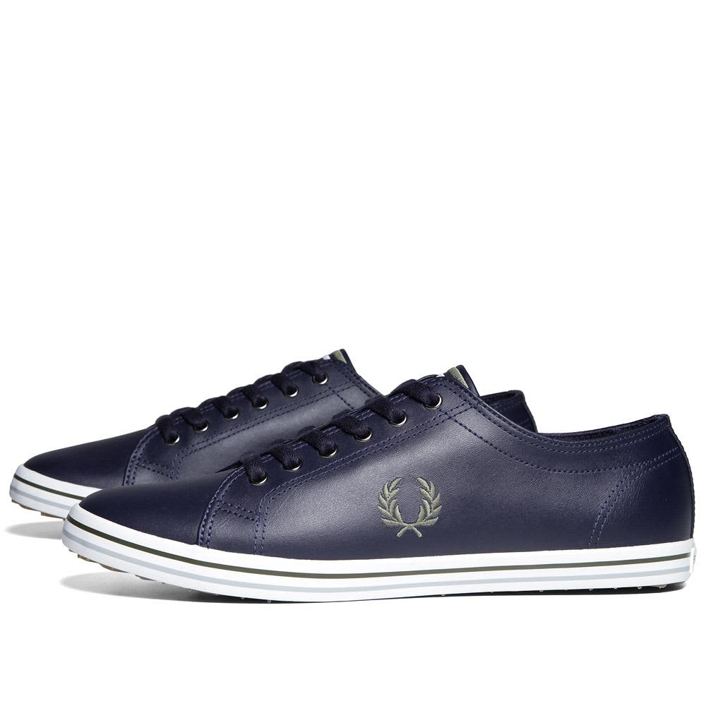 Fred Perry Kingston Leather - Carbon Blue