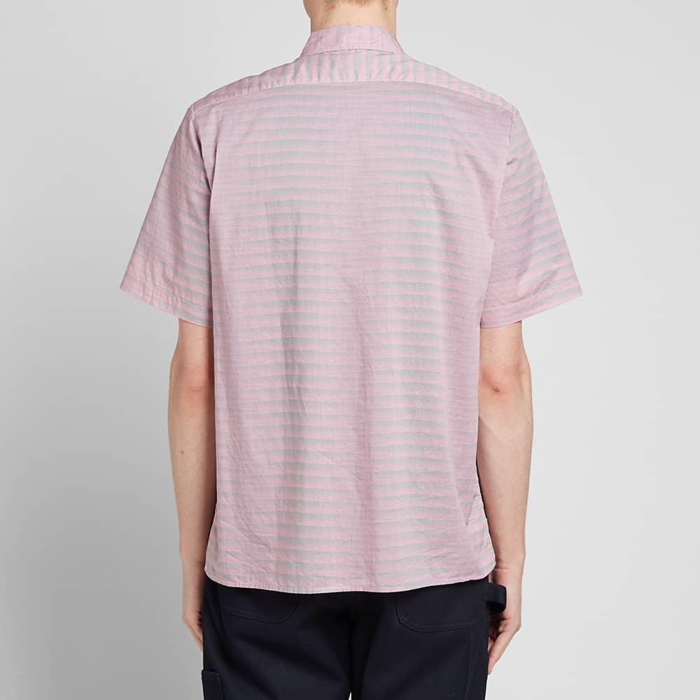 Très Bien Short Sleeve Tiger Stripe Shirt - Agassi Pink