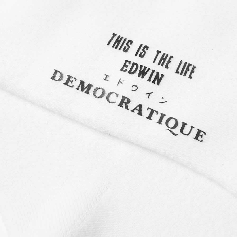 Edwin x Democratique Tube Sock - White