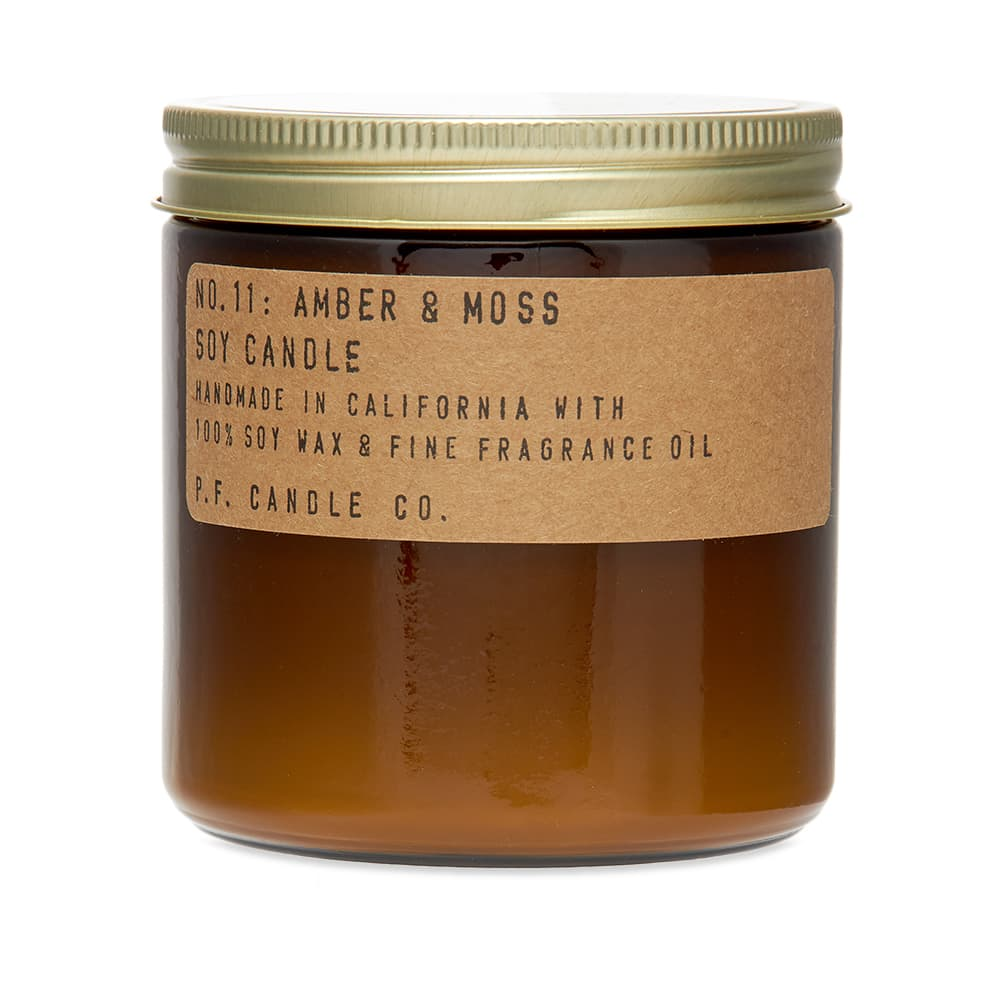0855111006096 11: Amber /& Moss Soy Candle - No 3.5 oz Candle Co.. P.F