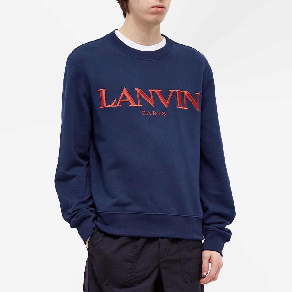 Lanvin Logo Crew Sweat - Navy Blue