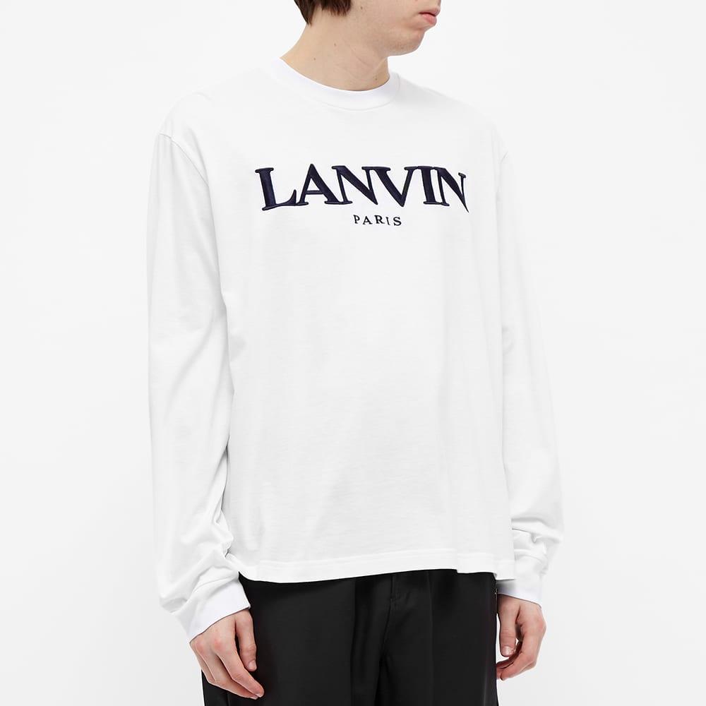 Lanvin Long Sleeve Logo Tee - Optic White