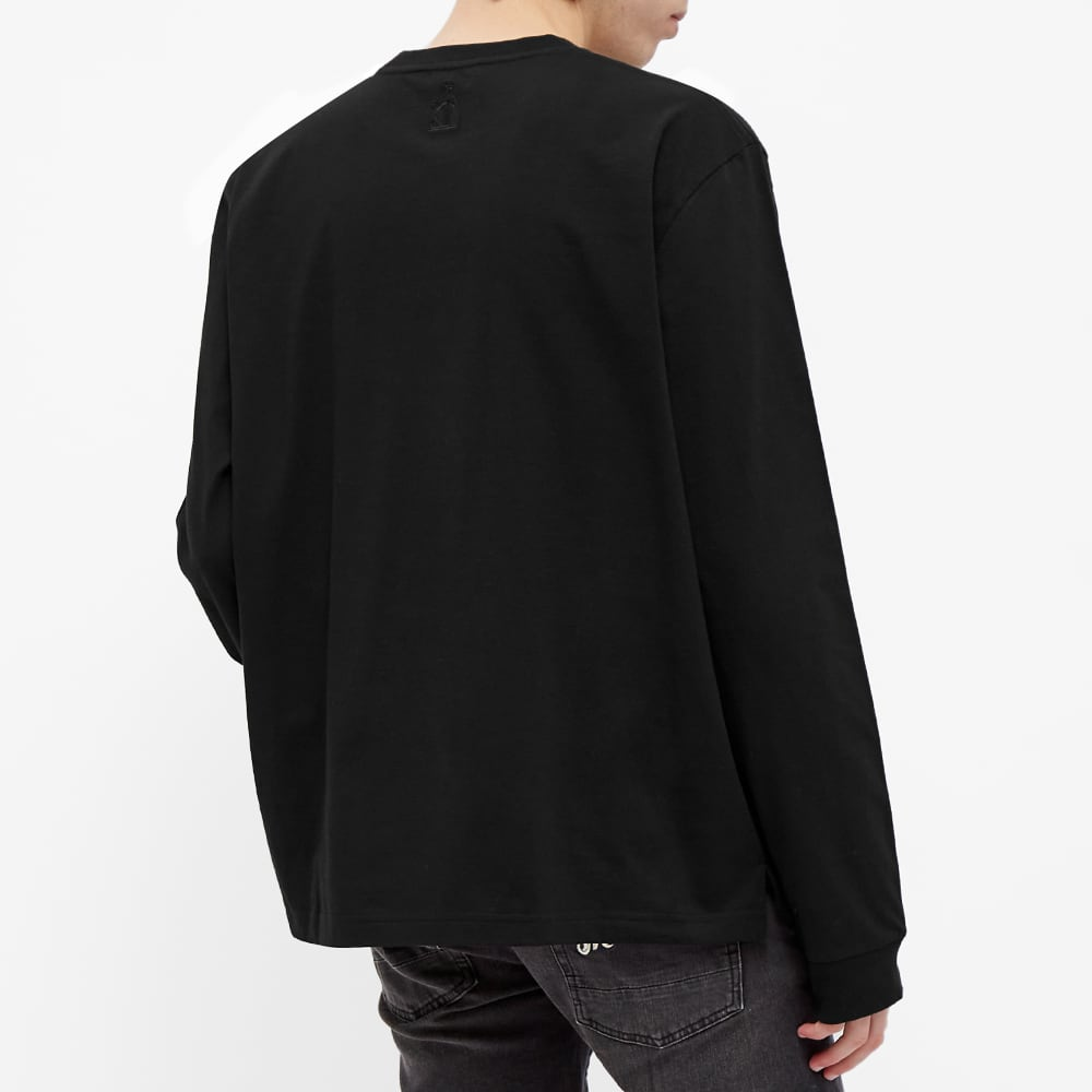 Lanvin Long Sleeve Logo Tee - Black