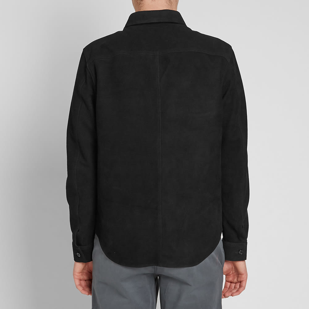 Our Legacy Suede Zip Shirt - Black Suede